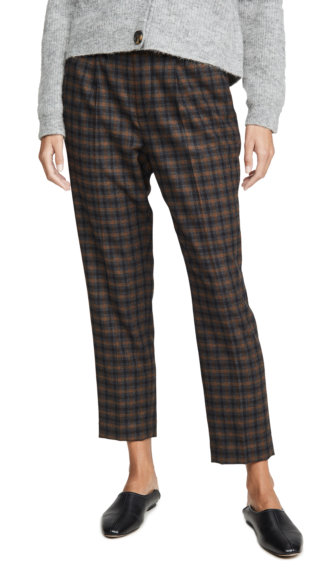 Buy Vince online - photo of Vince Plaid Pull On Pants