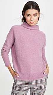 Vince Кашемировый пуловер с воротником-трубой