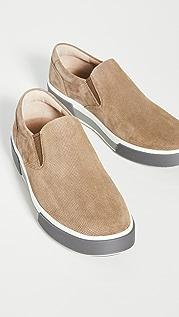 Vince Randell Micro Dot Suede Slip On Sneakers