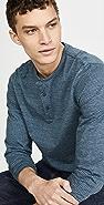 Vince Long Sleeve Stripe Henley