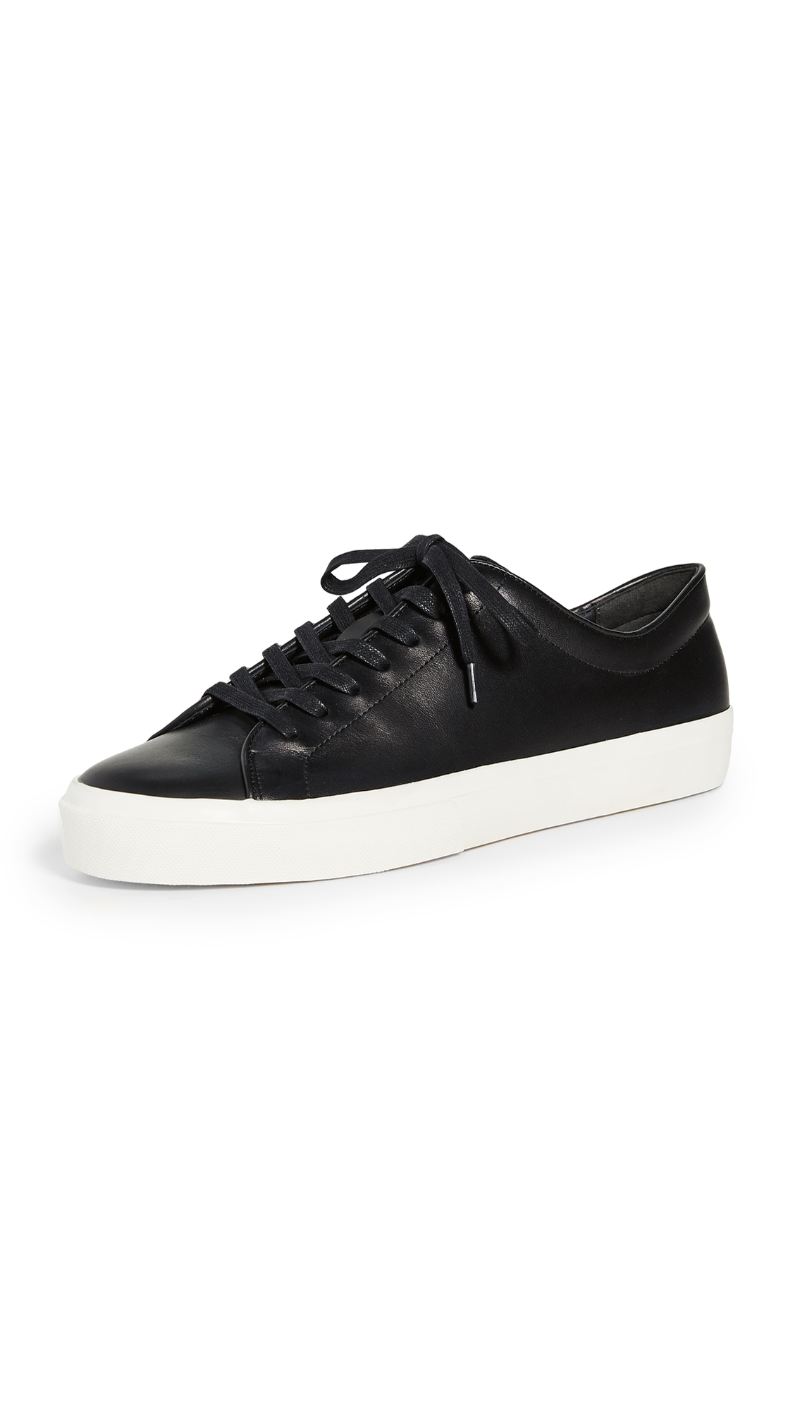 Vince Men's Farrell Smooth Leather Low-top Sneakers In Black