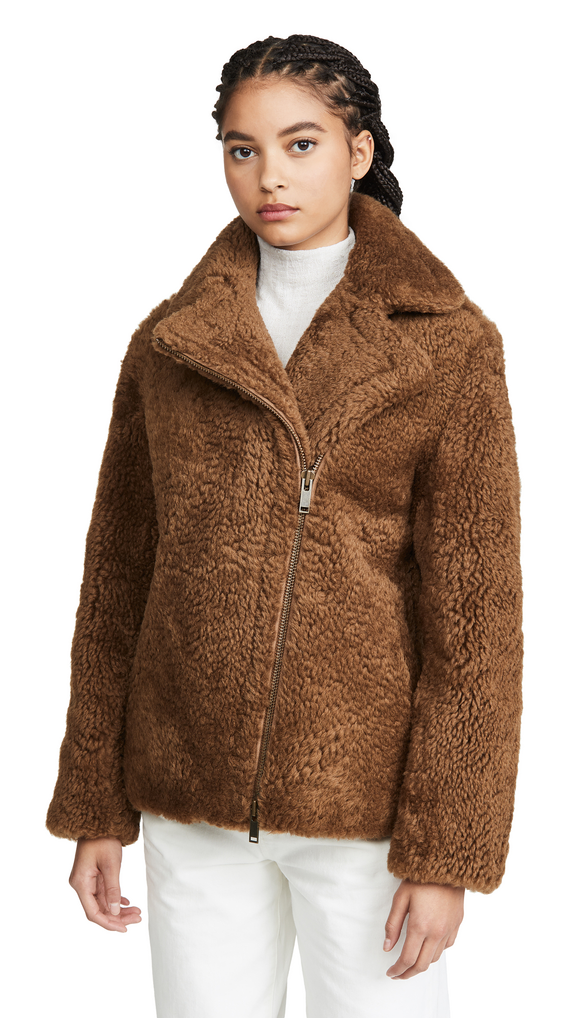 Buy Vince online - photo of Vince Shearling Moto Jacket
