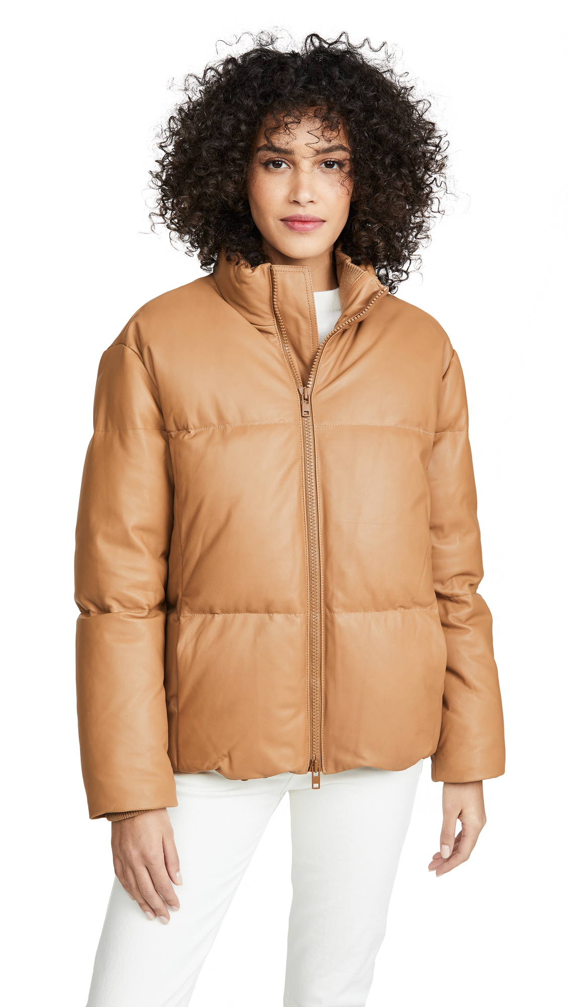 Buy Vince online - photo of Vince Leather Puffer