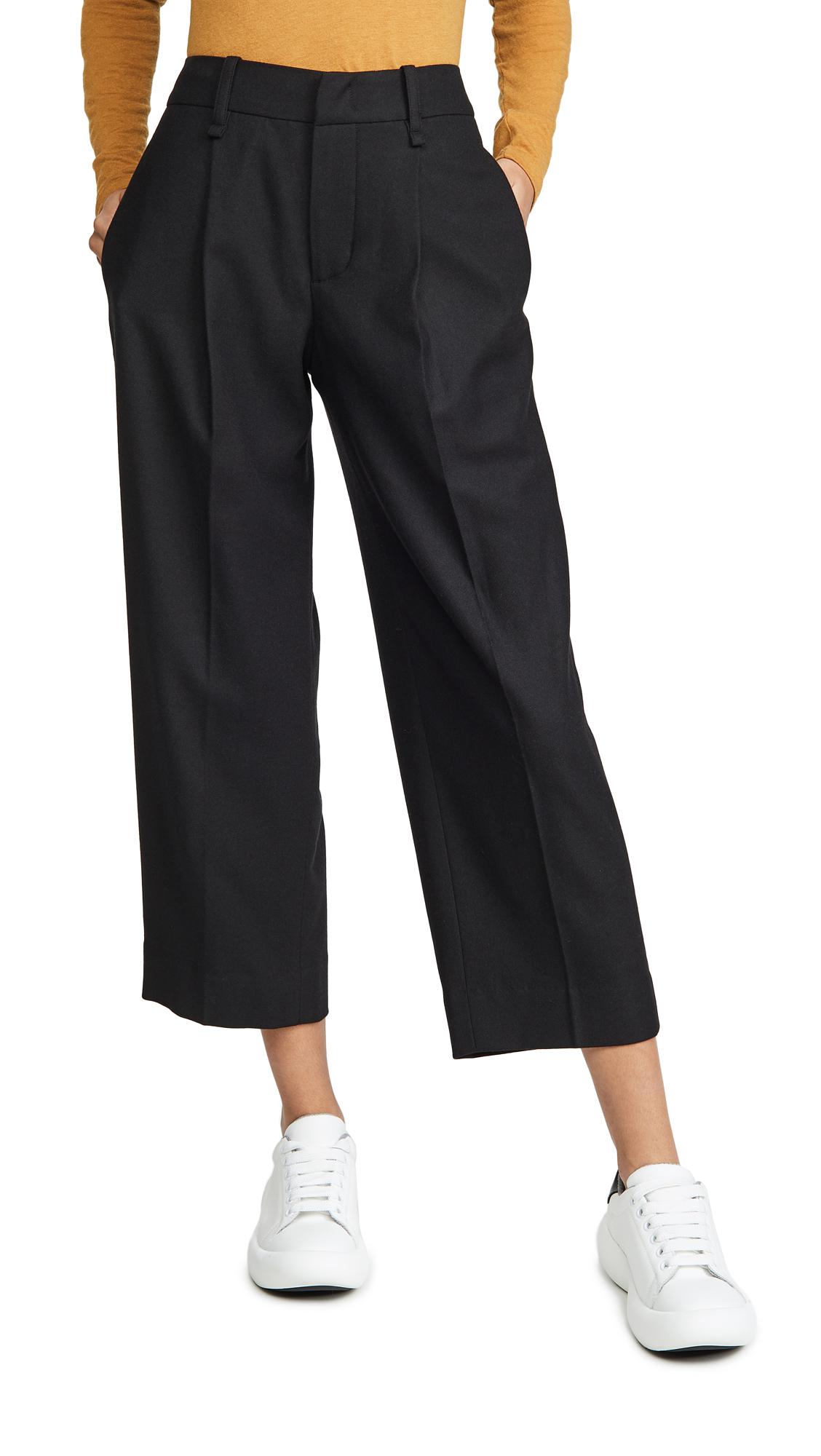 Buy Vince online - photo of Vince Pleat Front Crop Pants