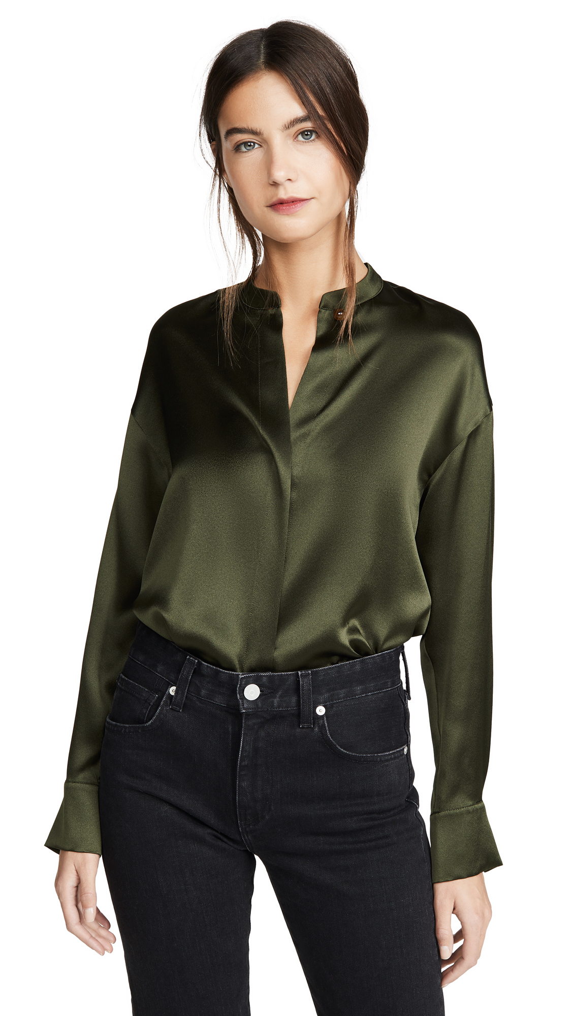 Buy Vince online - photo of Vince Long Sleeve Wrap Blouse