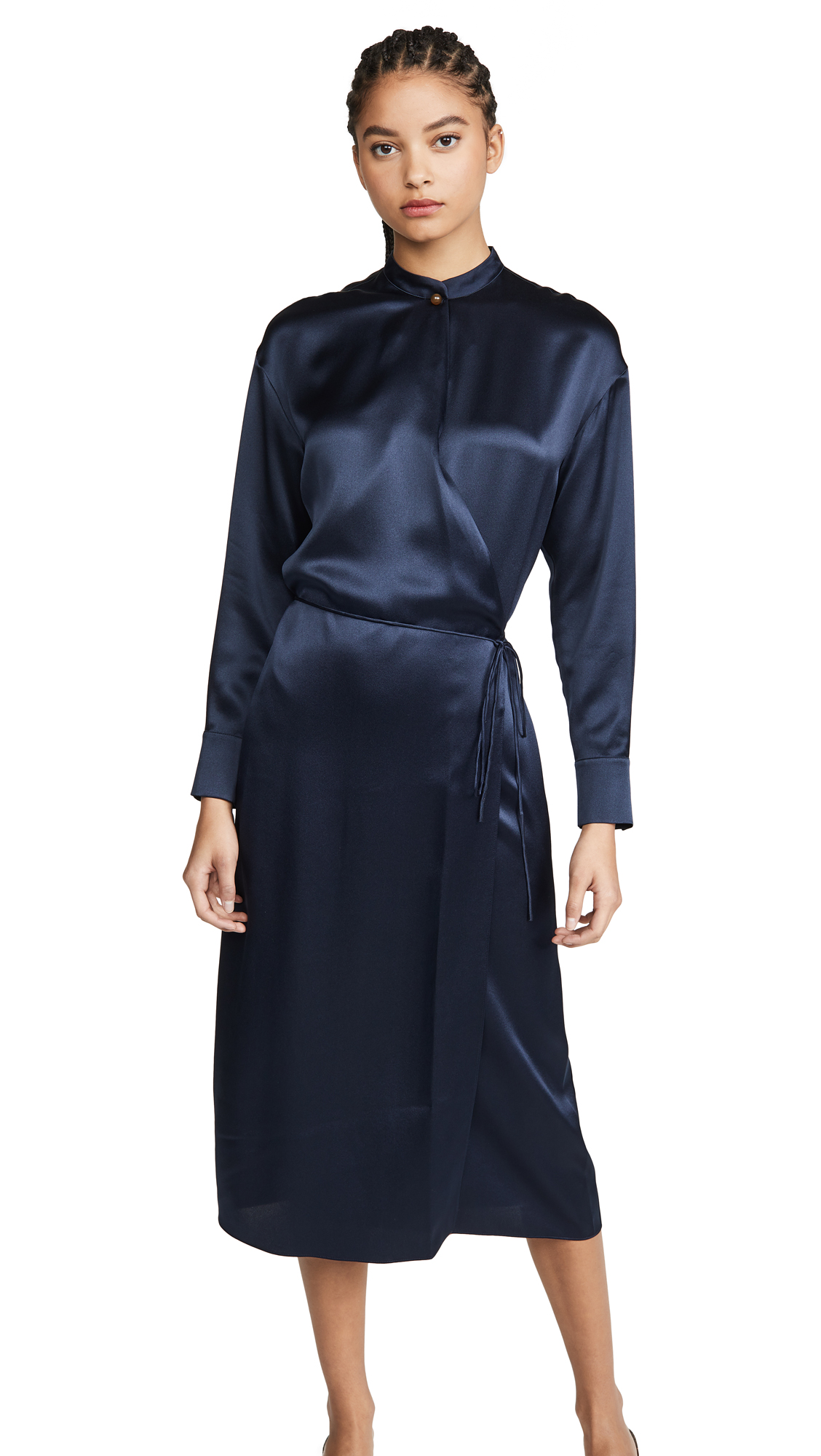 Vince Long Sleeve Wrap Dress - 40% Off Sale