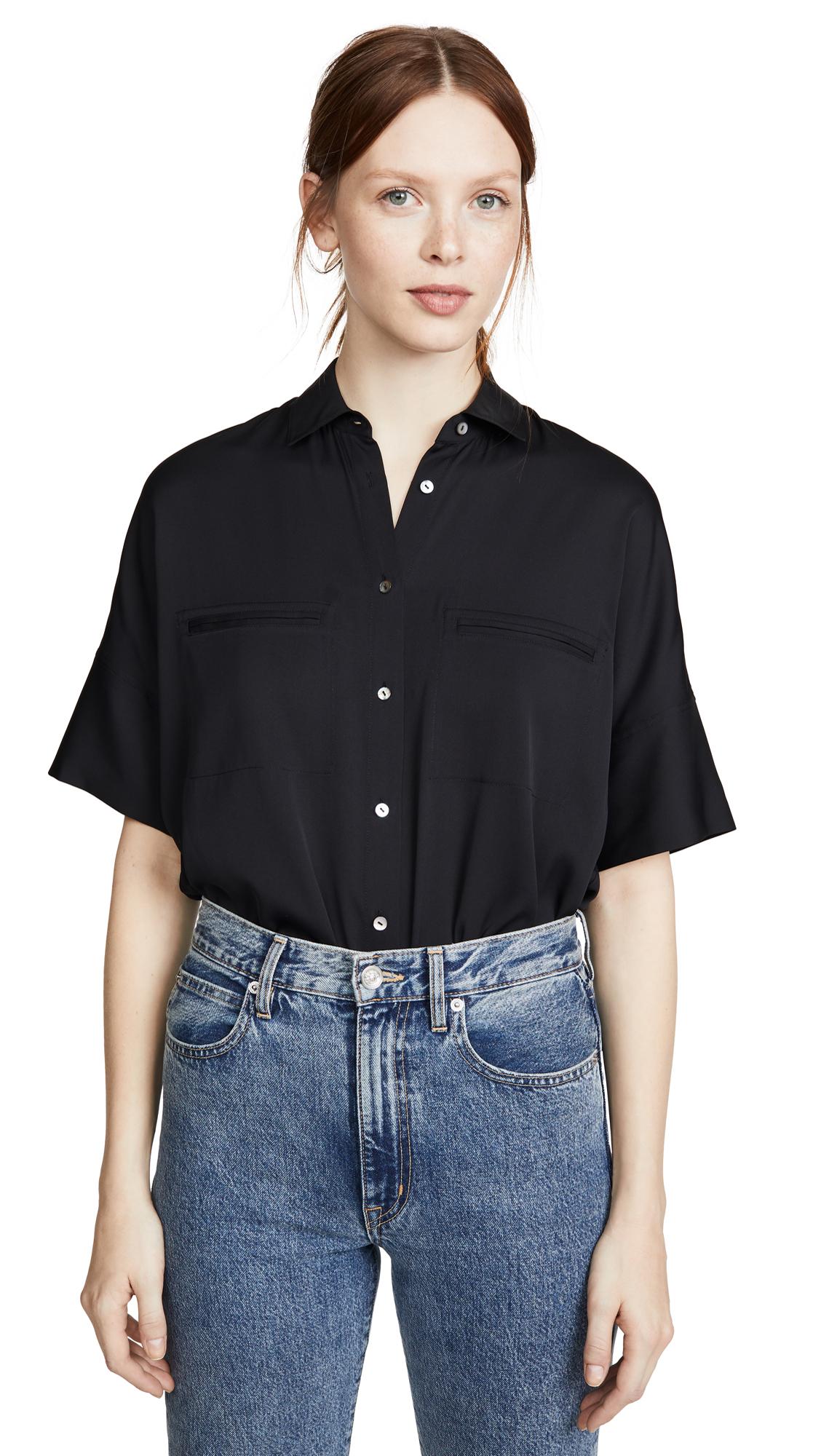 Vince Short Sleeve Blouse - 30% Off Sale