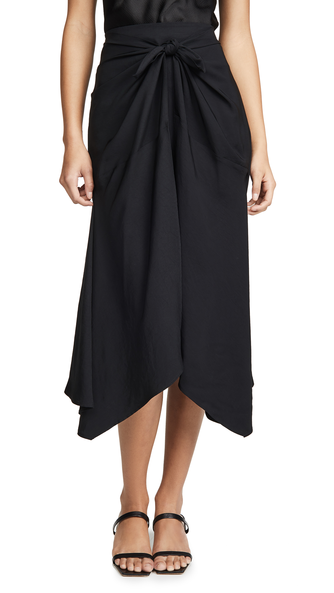 Buy Vince online - photo of Vince Tie Front Asymmetric Skirt