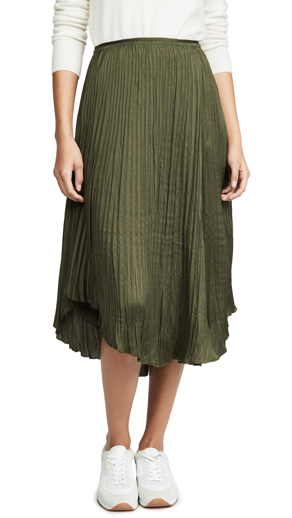 Buy Vince online - photo of Vince Crushed Drape Skirt