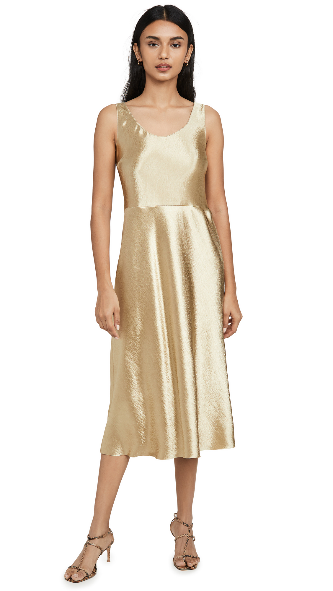 Vince Metallic Tank Dress - 60% Off Sale