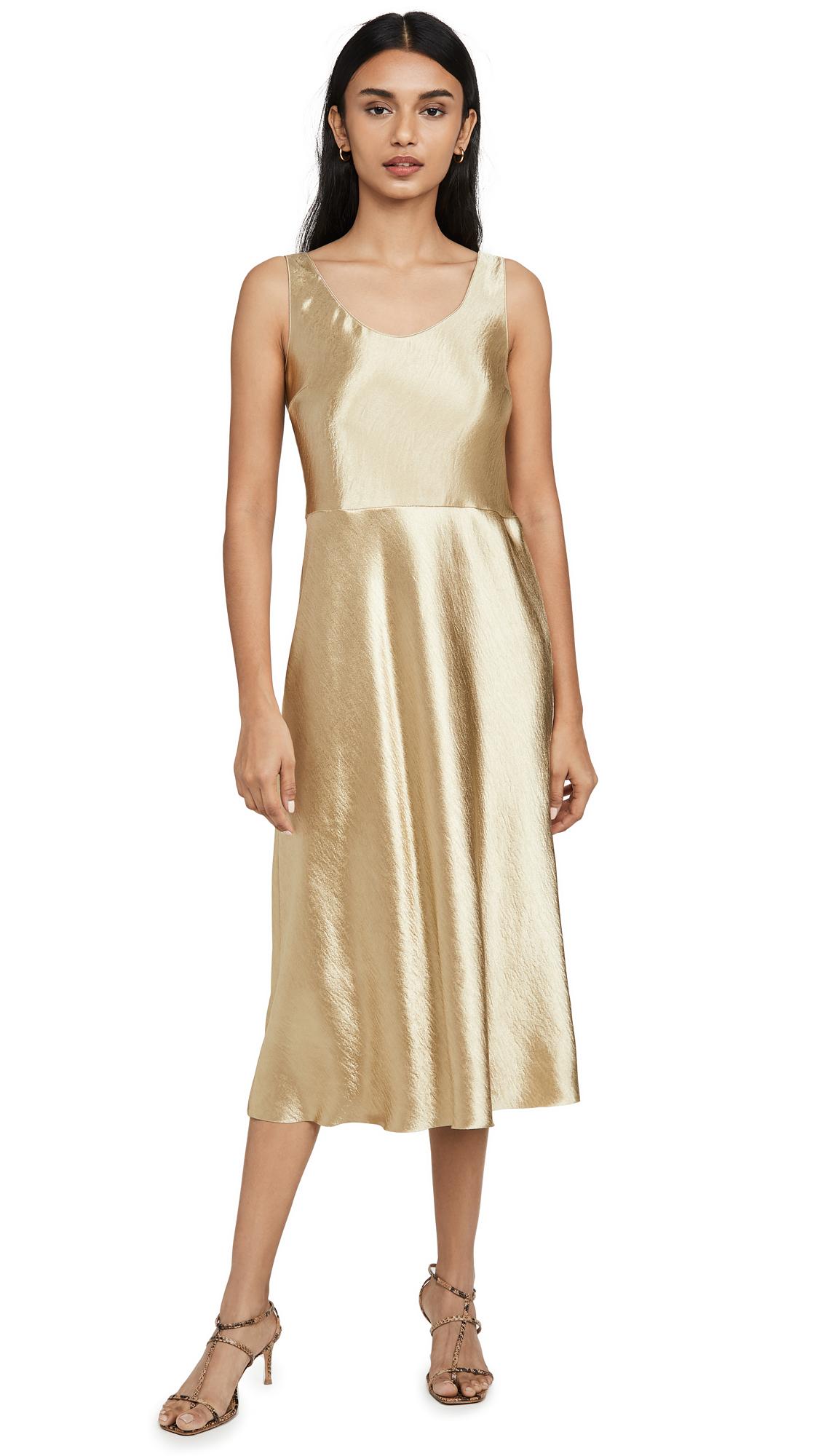 Buy Vince Metallic Tank Dress online beautiful Vince Clothing, Dresses