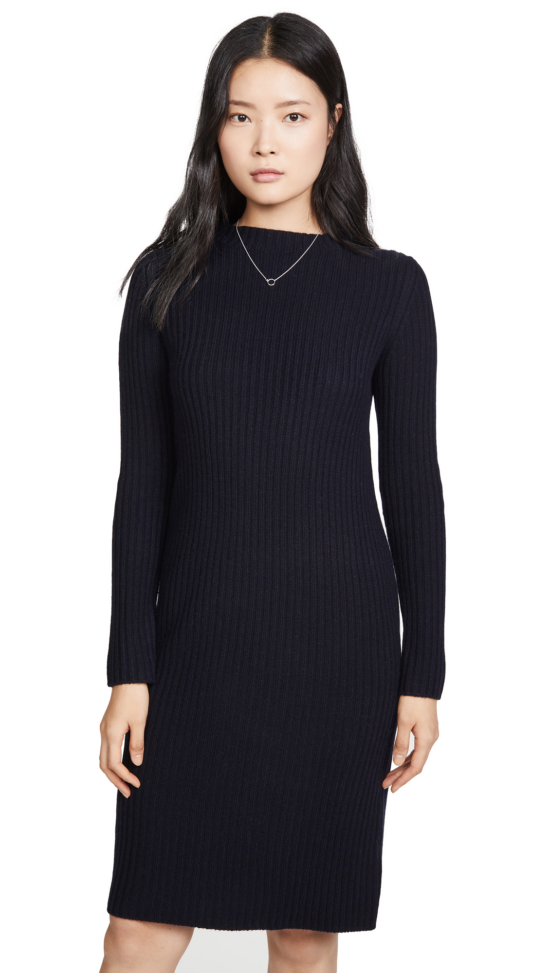 Vince Ribbed Long Sleeve Dress - 60% Off Sale