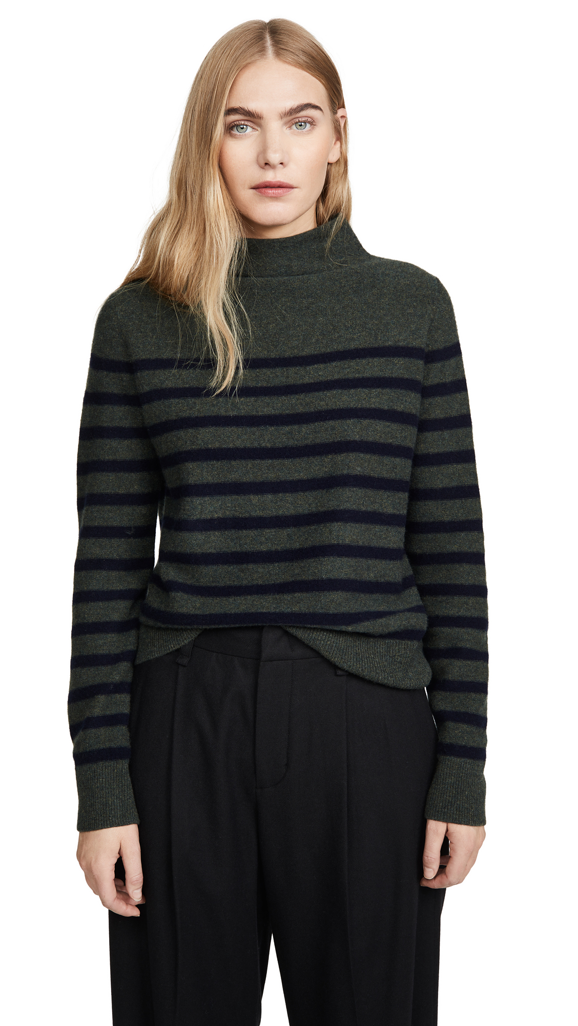Buy Vince online - photo of Vince Brenton Stripe Cashmere Sweater