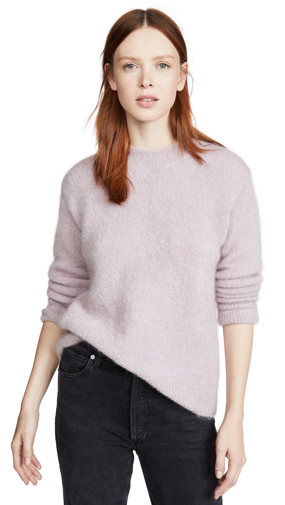 Buy Vince online - photo of Vince Brushed Mohair Tunic Pullover
