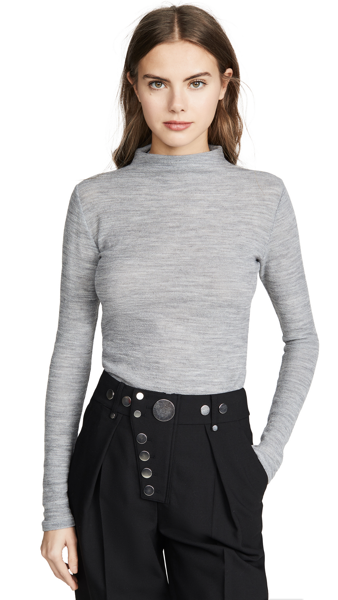 Buy Vince online - photo of Vince Long Sleeve Funnel Neck Sweater