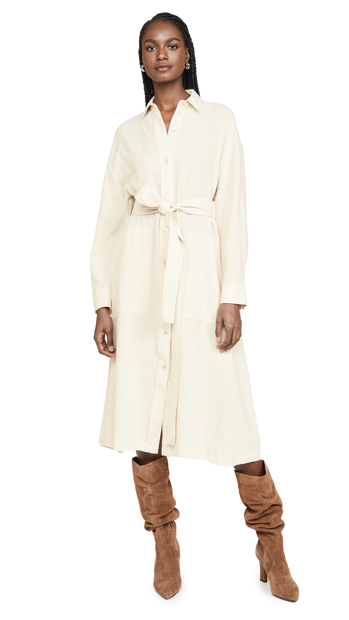 Buy Vince online - photo of Vince Belted Shirt Dress
