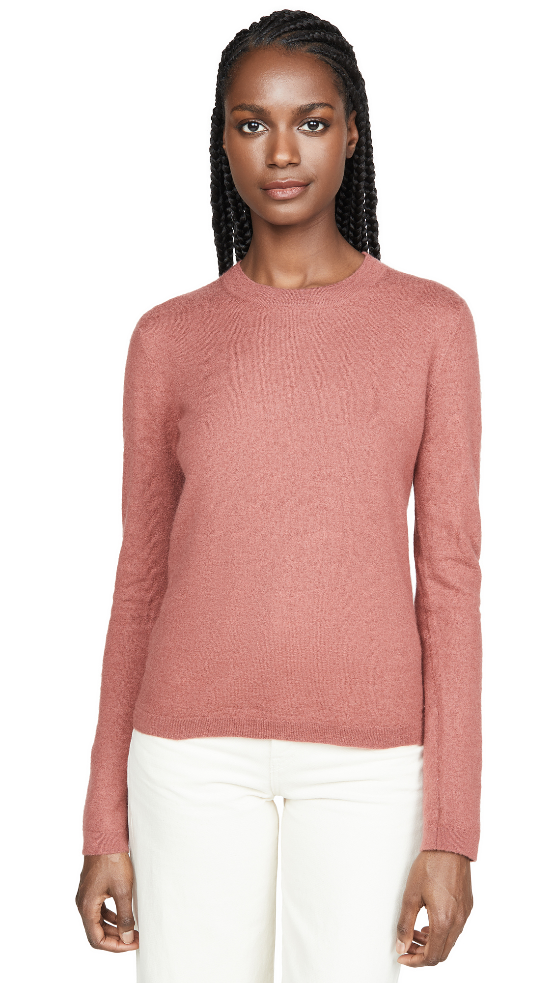 Buy Vince online - photo of Vince Fitted Crew Cashmere Sweater