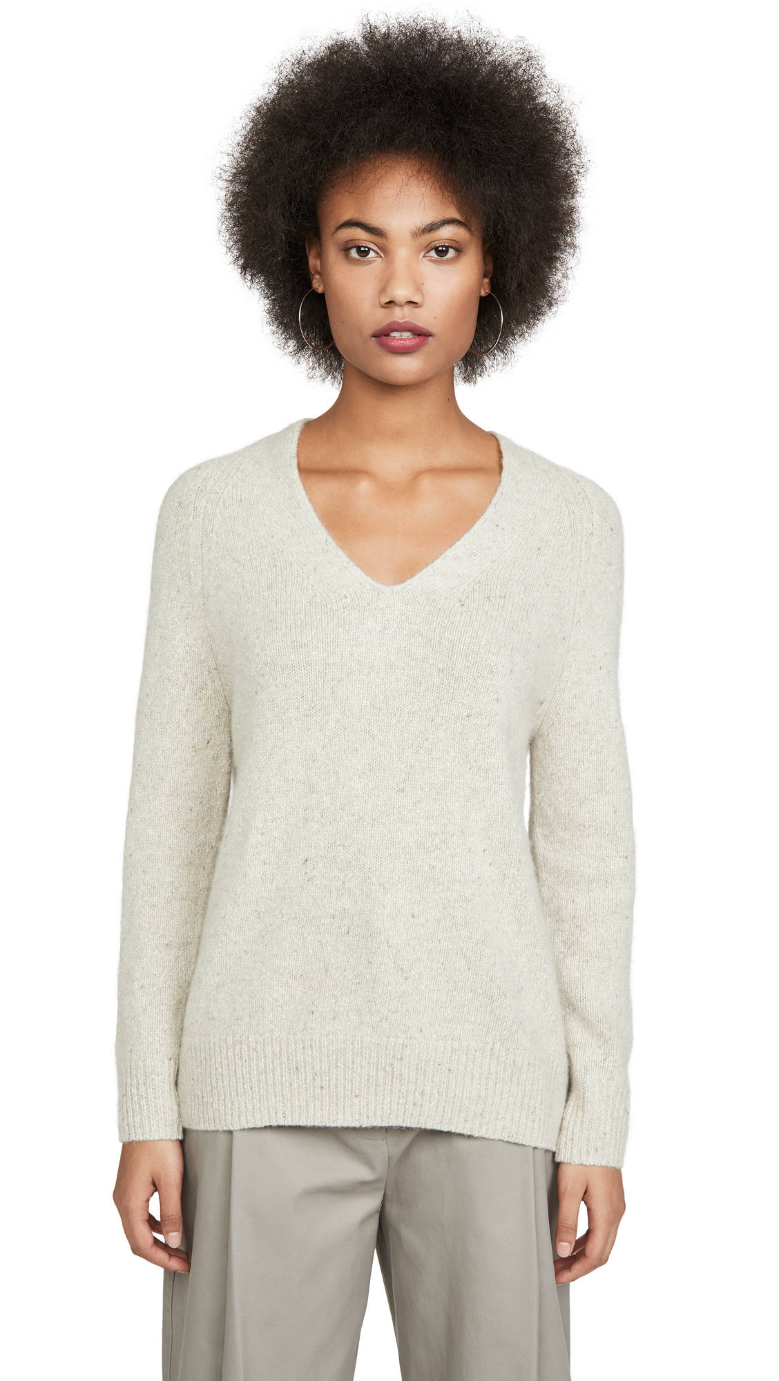 Buy Vince online - photo of Vince Panel Back Cashmere Tunic