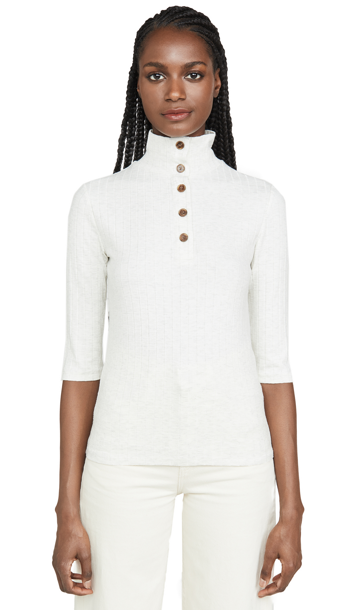 Buy Vince online - photo of Vince Button Up Elbow Sleeve Top