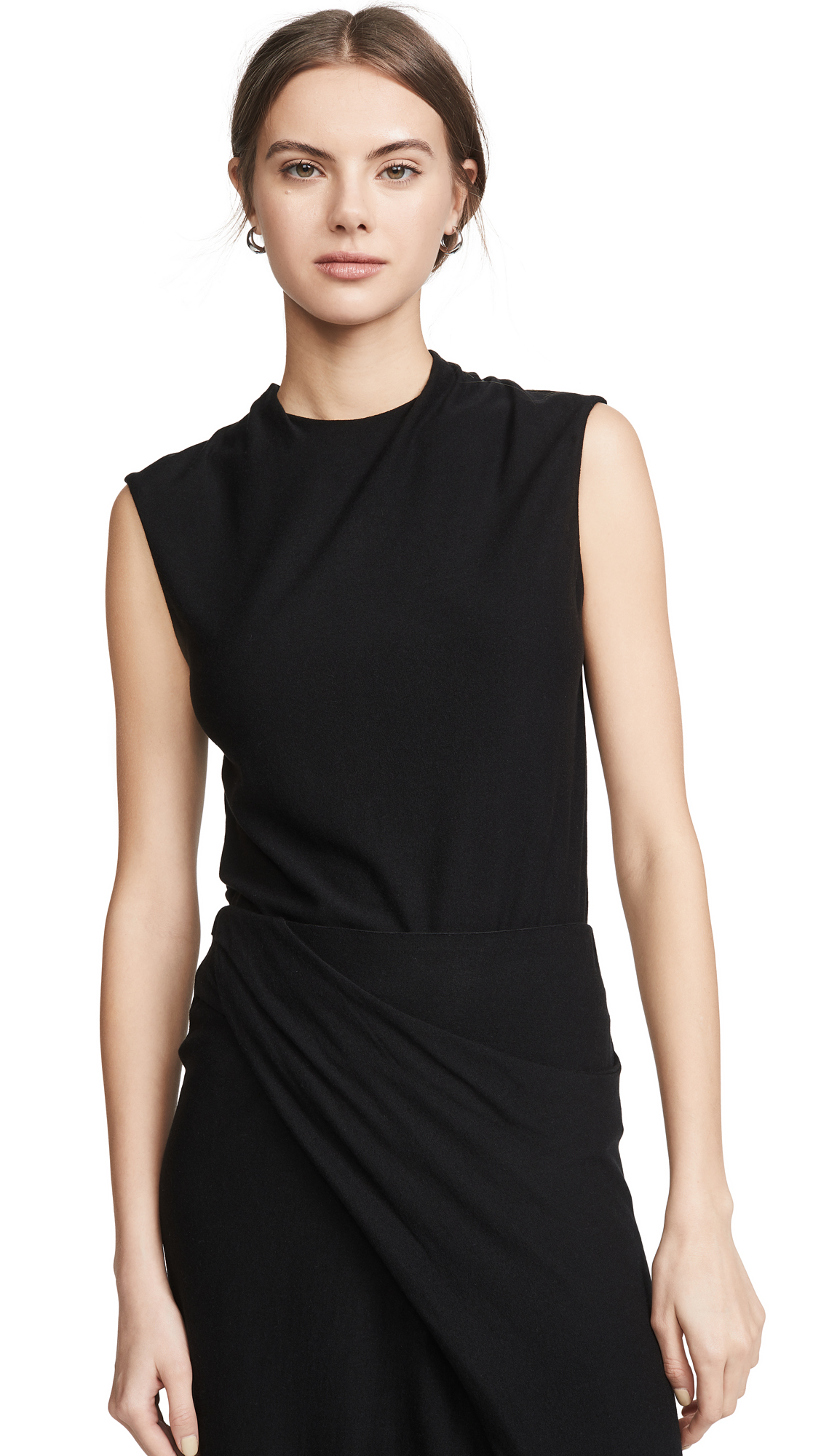 Buy Vince online - photo of Vince Draped Neck Shell Top