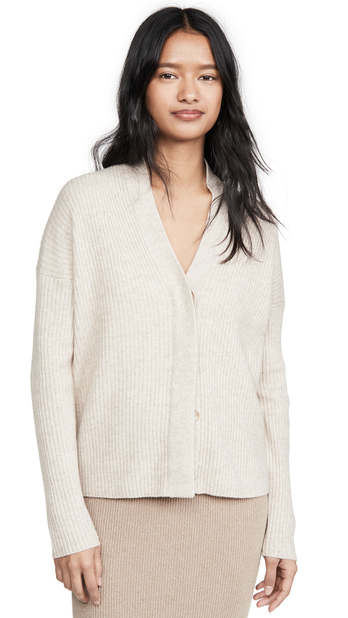 Buy Vince online - photo of Vince Ribbed Button Cardigan