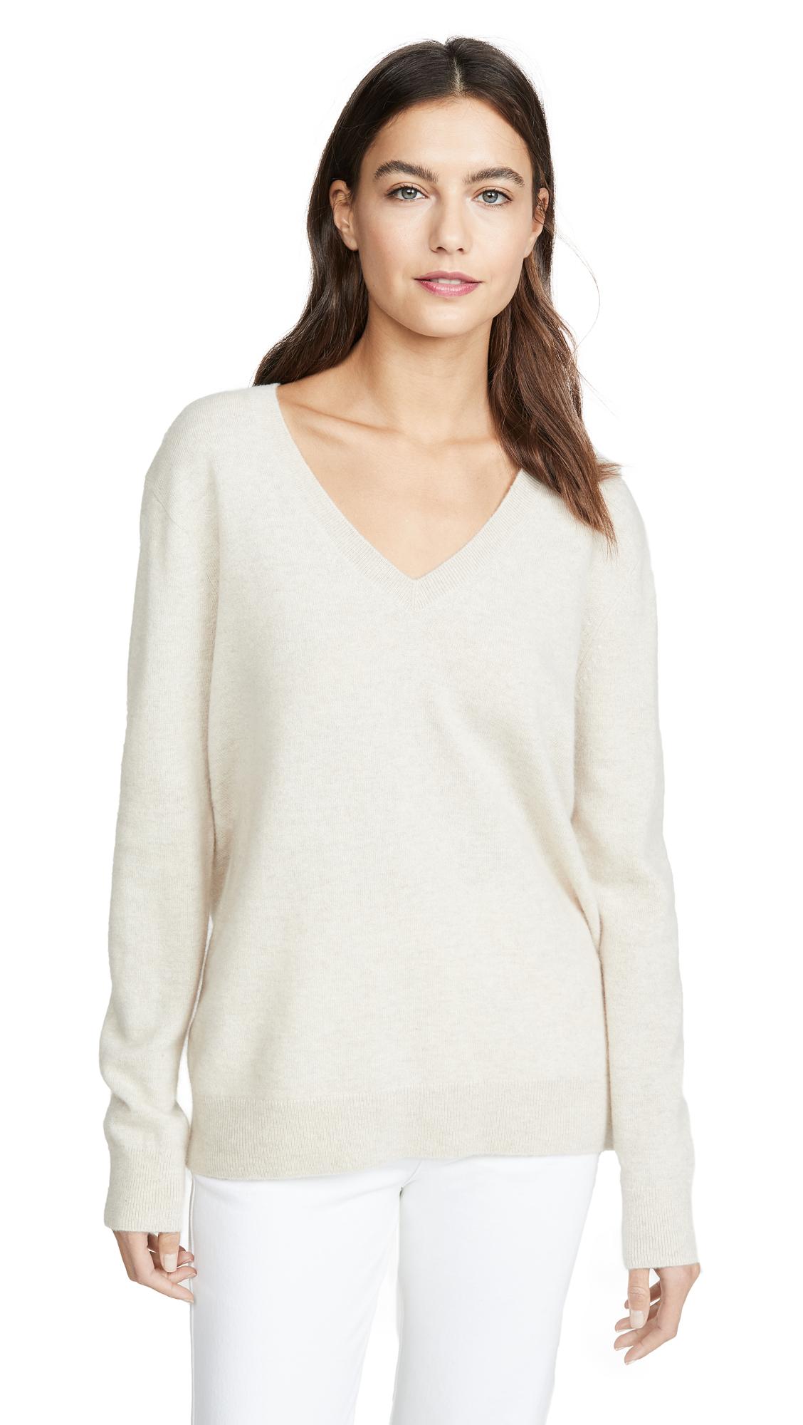 Buy Vince online - photo of Vince Weekend V Neck Cashmere Sweater