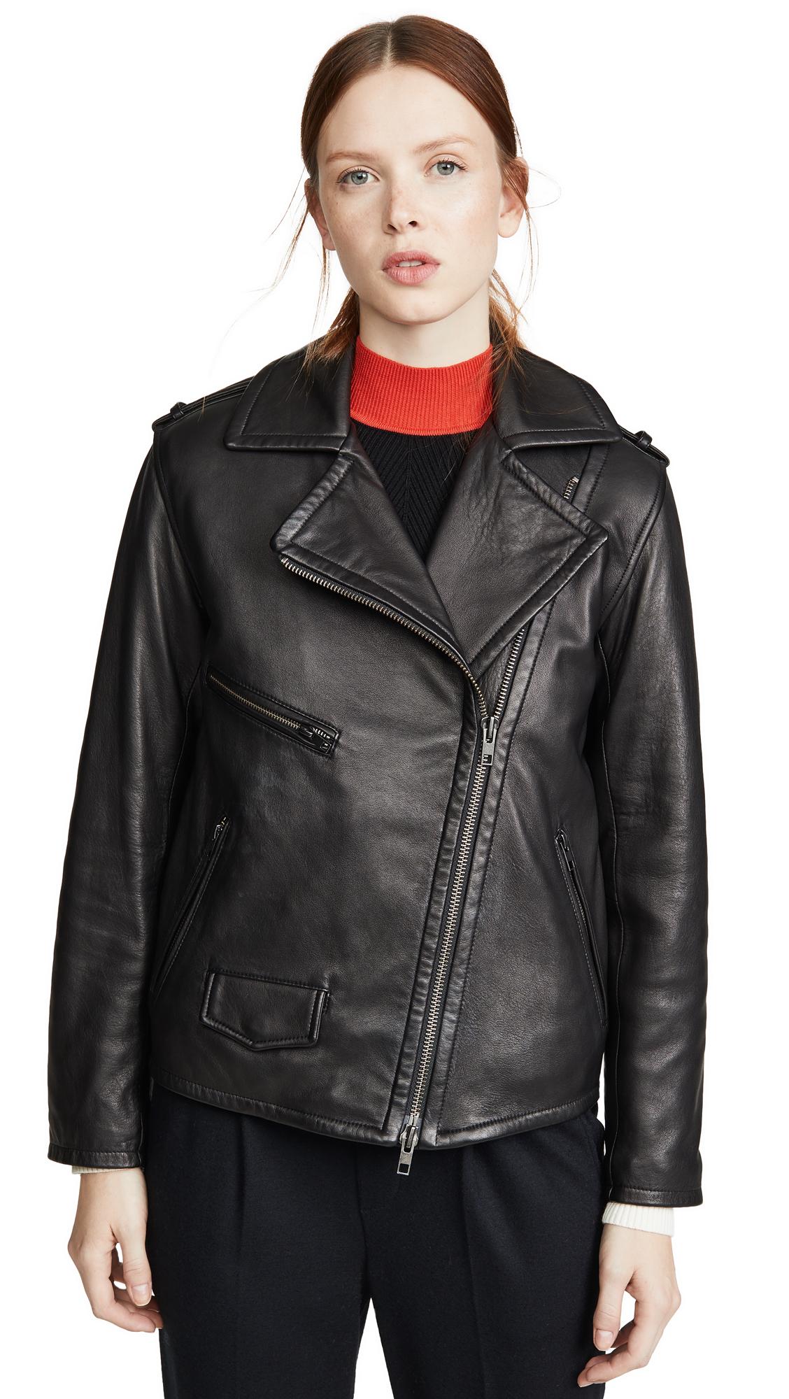 Buy Vince online - photo of Vince Leather Moto Jacket