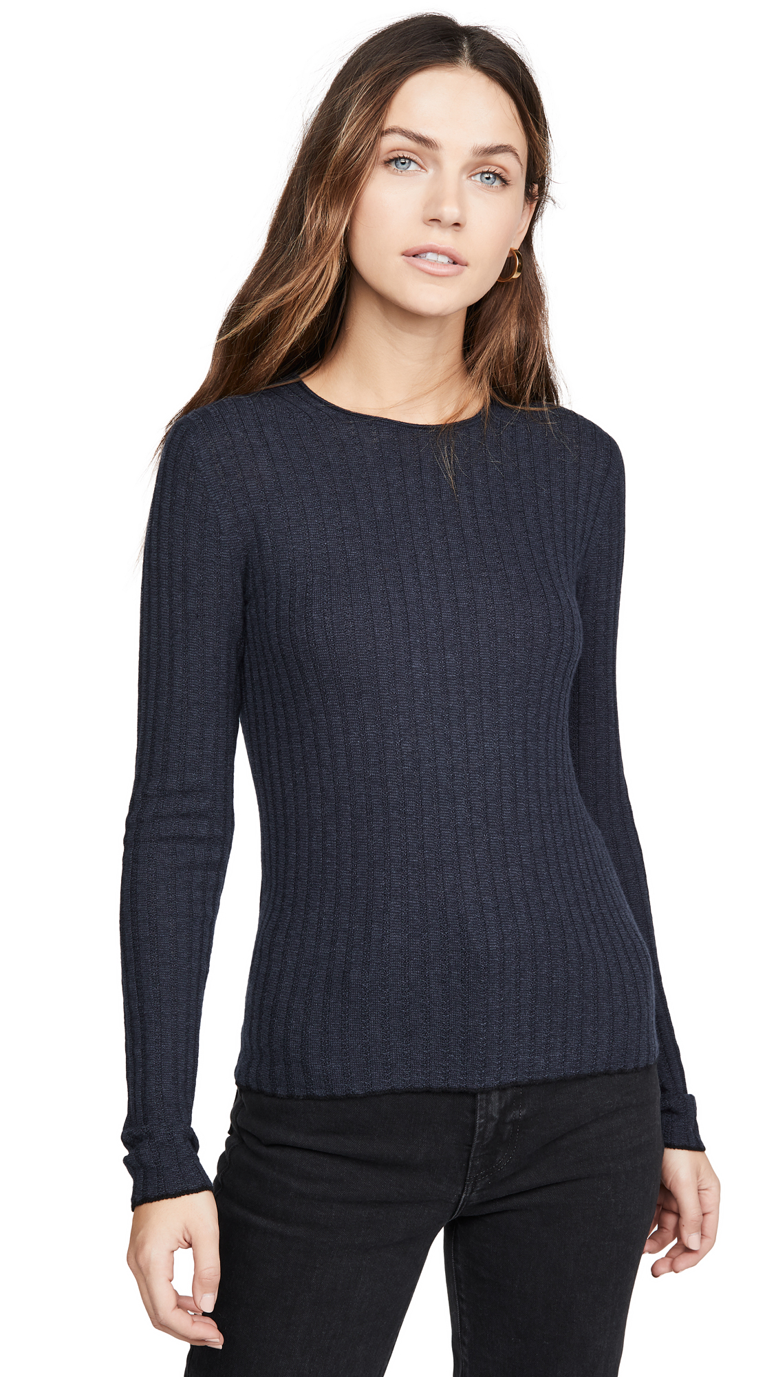 Buy Vince online - photo of Vince Microstripe Crew Pullover