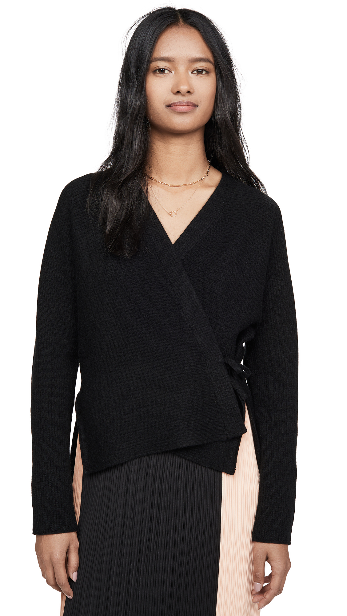 Buy Vince online - photo of Vince Wool Cashmere Wrap Cardigan