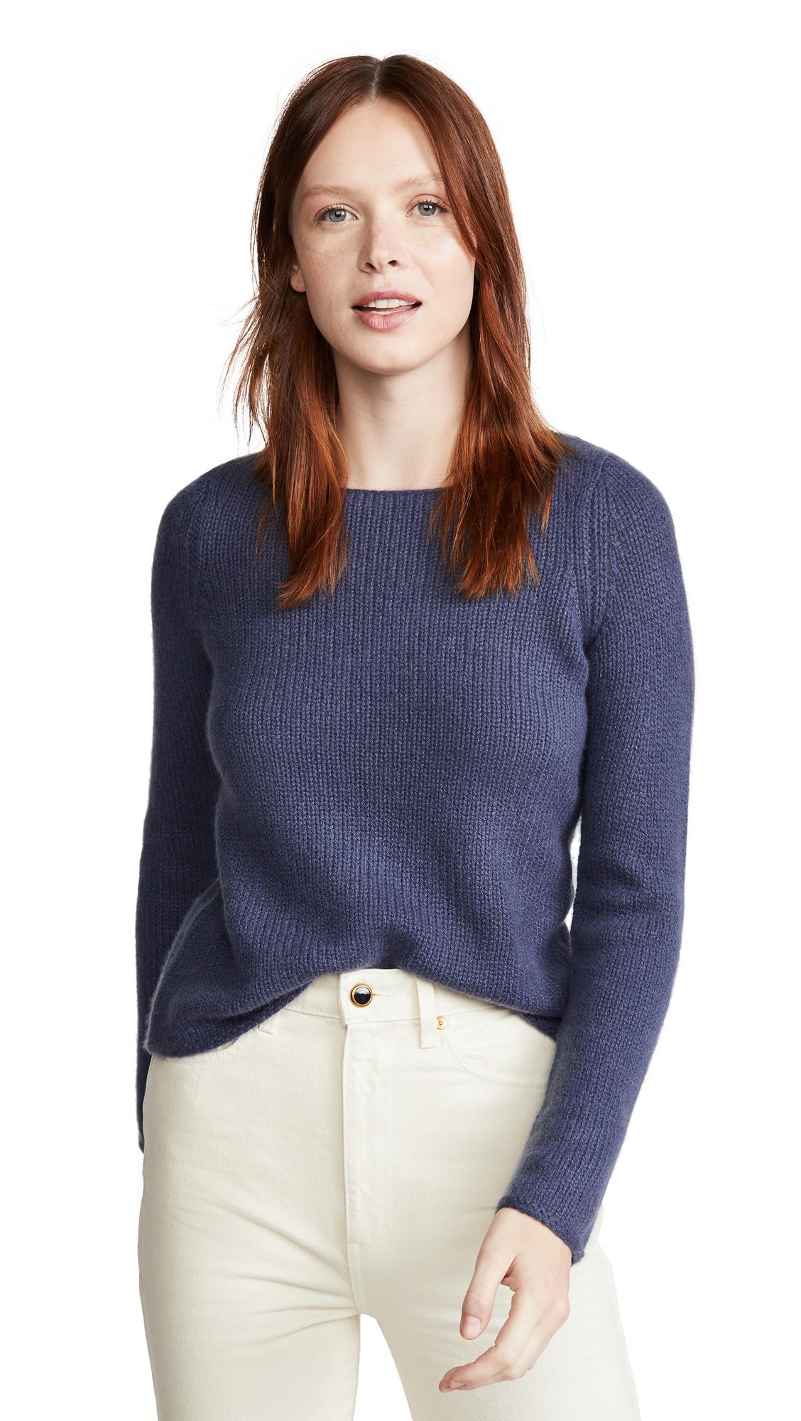 Buy Vince online - photo of Vince Off Gauge Cashmere Boat Neck Sweater