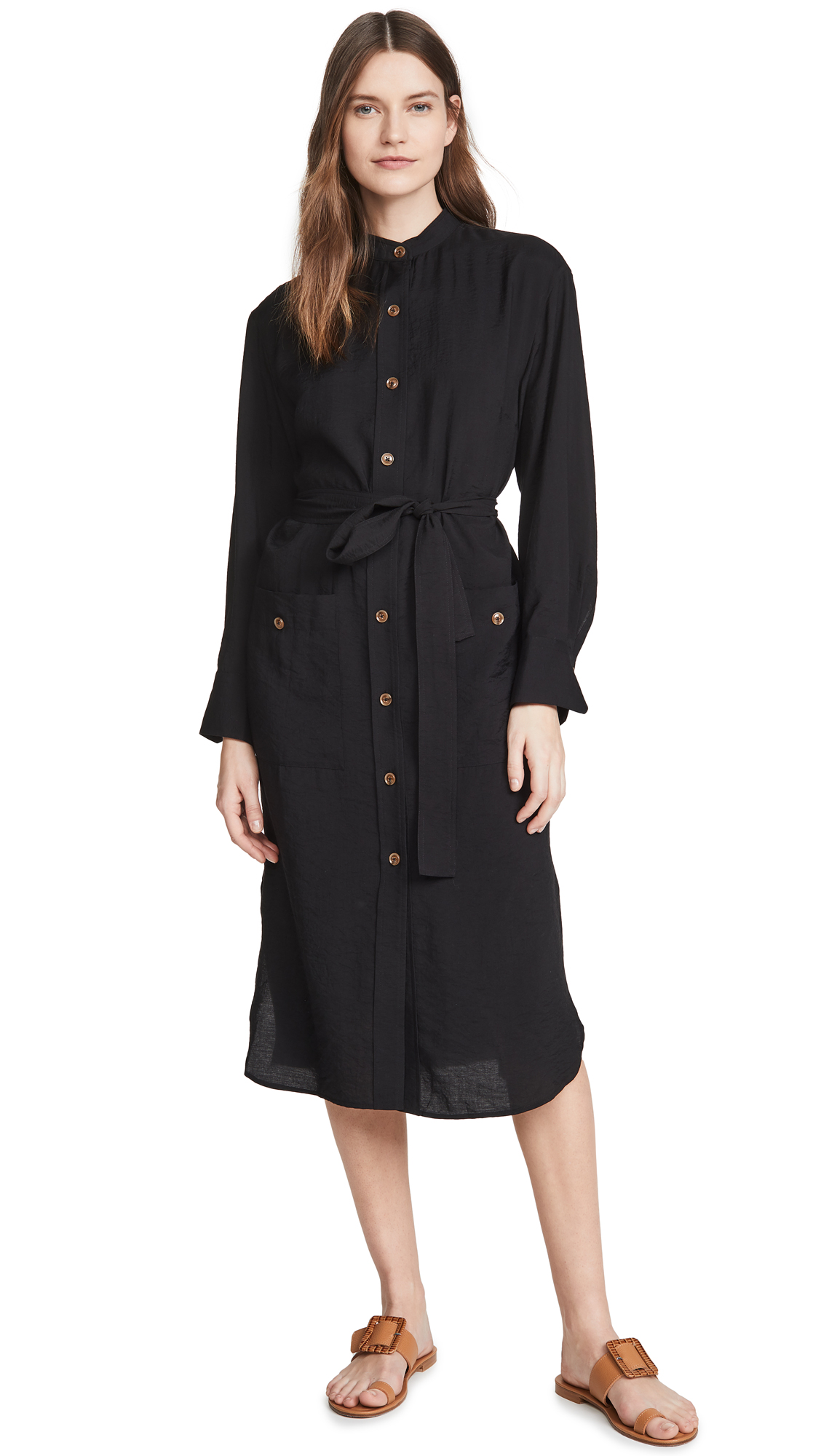 Buy Vince online - photo of Vince Belted Button Down Dress