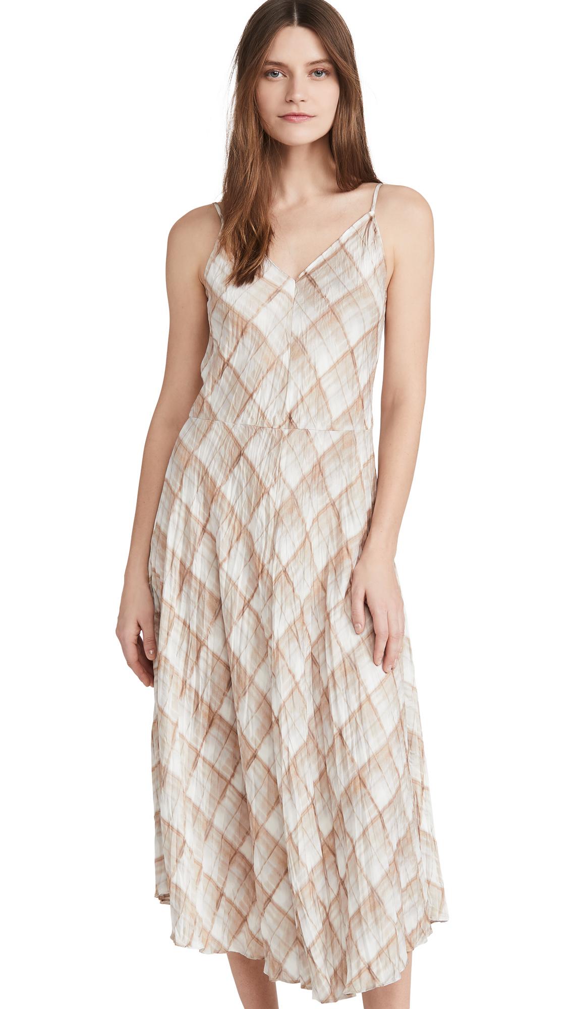 Buy Vince online - photo of Vince Hazy Plaid Cami Dress