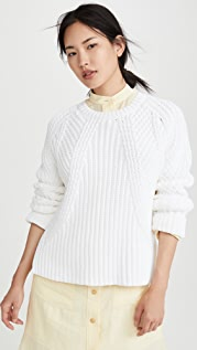 Vince Mixed Rib Crew Sweater