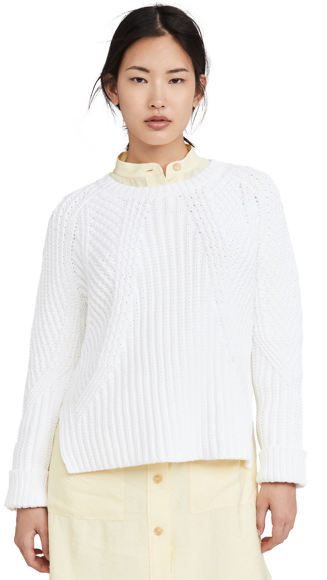 Buy Vince online - photo of Vince Mixed Rib Crew Sweater