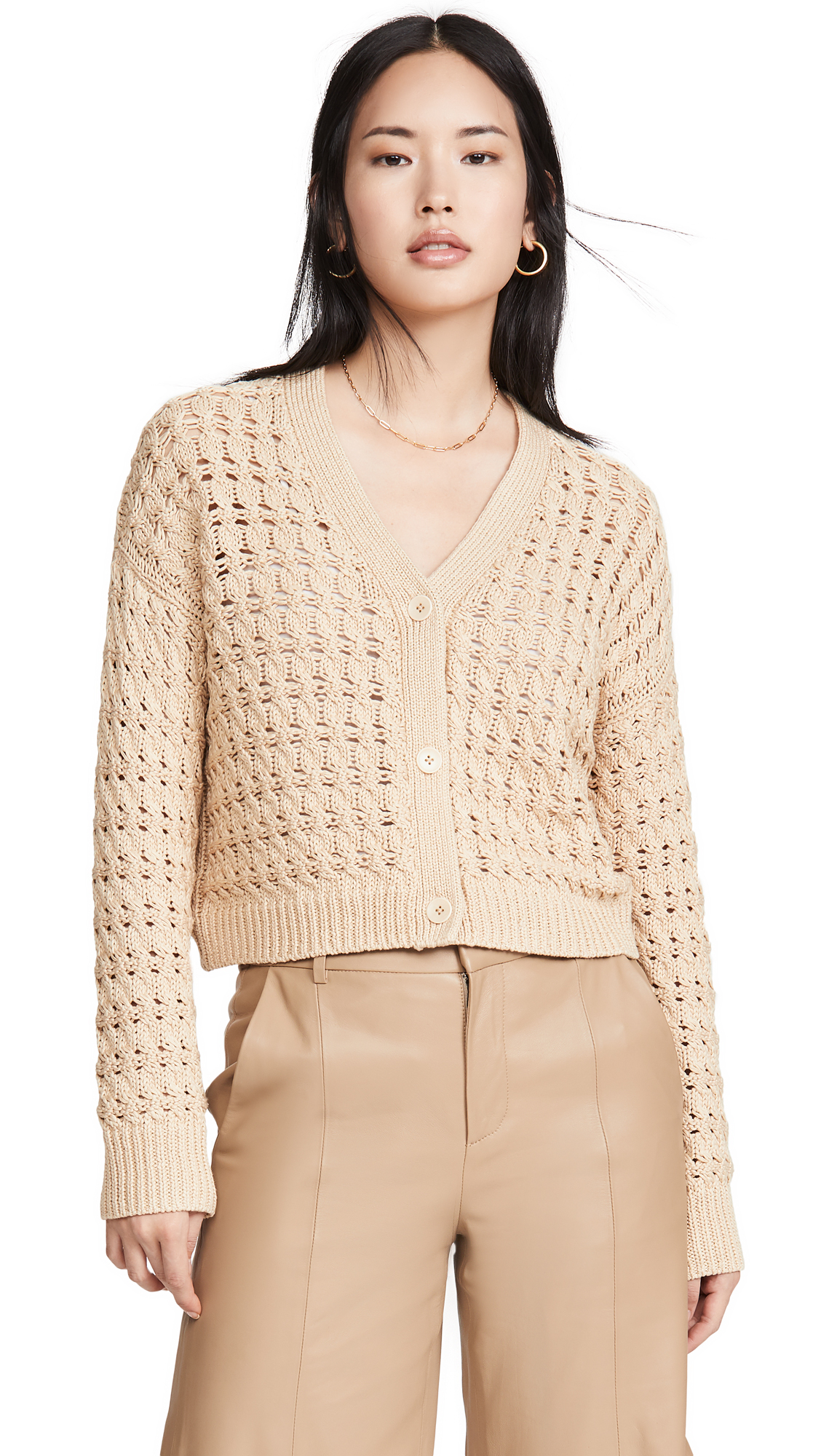 Buy Vince online - photo of Vince Open Cable Cardigan