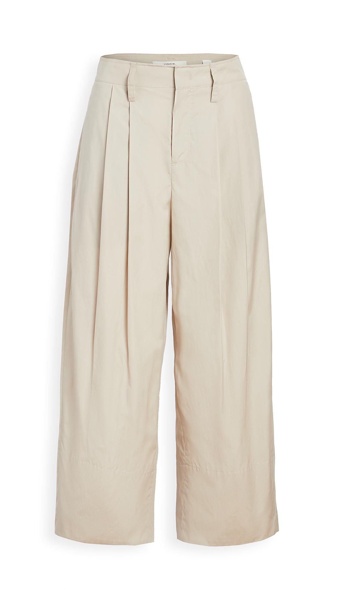 Vince Pleat Front Crop Wide Pants