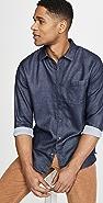 Vince Long Sleeve Jacquard Double Face Shirt