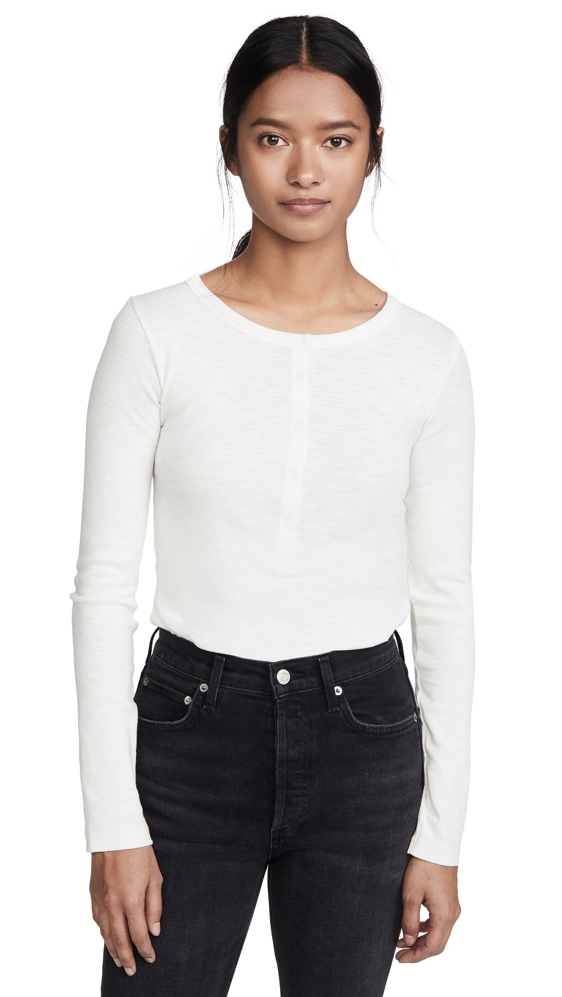 Buy Vince online - photo of Vince Long Sleeve Henley Shirt