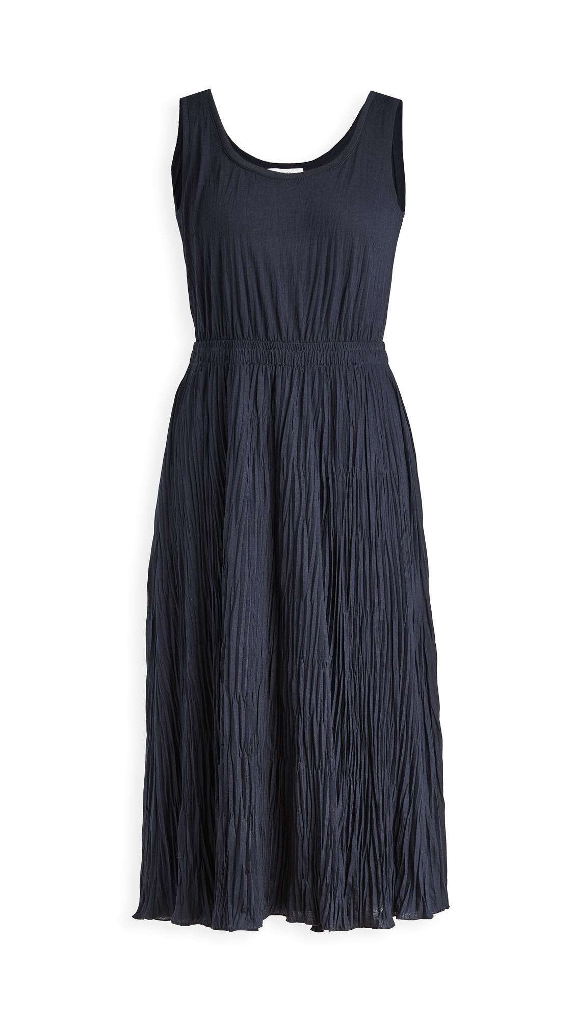 Photo of Vince Pleated Scoop Neck Tank Dress - shop Vince Clothing, Dresses online