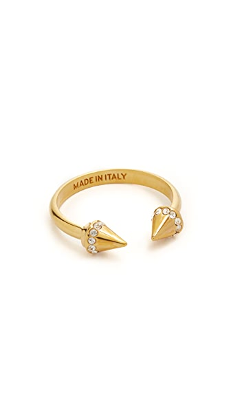 Vita Fede Crystal Ultra Mini Titan Ring In Gold/Clear