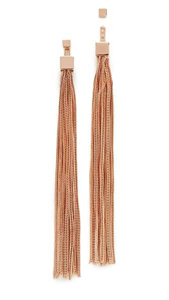 Vita Fede Double Cubo Tassle Earrings