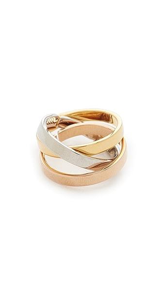 Vita Fede Tre Cassio Ring - Silver/Rose Gold/Gold