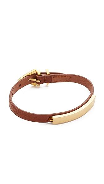 Vita Fede Mini Titan Aria Pelle Bracelet - Gold/Cognac