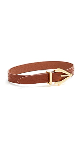 Vita Fede Mini Titan Pelle Bracelet - Gold/Cognac