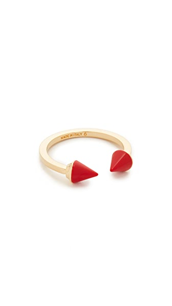 Vita Fede Mini Titan Stone Ring - Gold/Red
