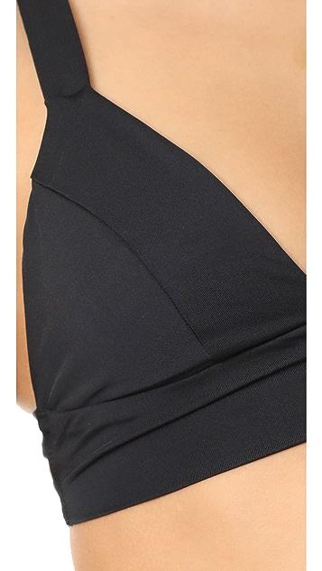 Vitamin A Black EcoLux Neutra Bikini Top
