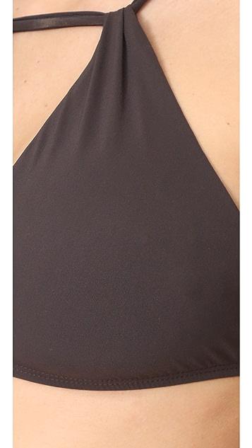 Vitamin A Amber High Neck Bikini Top