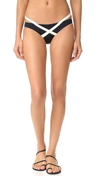 Vitamin A Olivia Hipster Bikini Bottoms In The Domino Effect