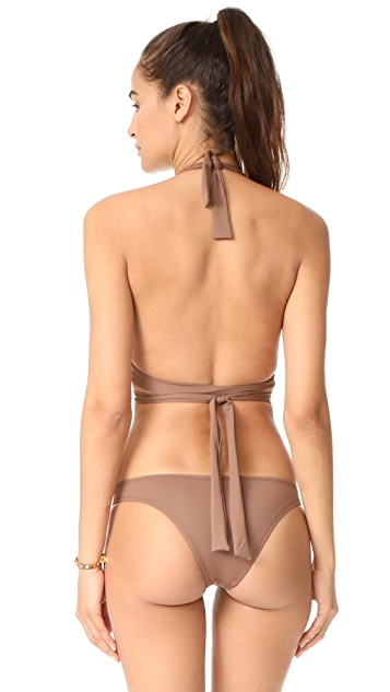 Vitamin A Adriana Wrap Halter Bikini Top