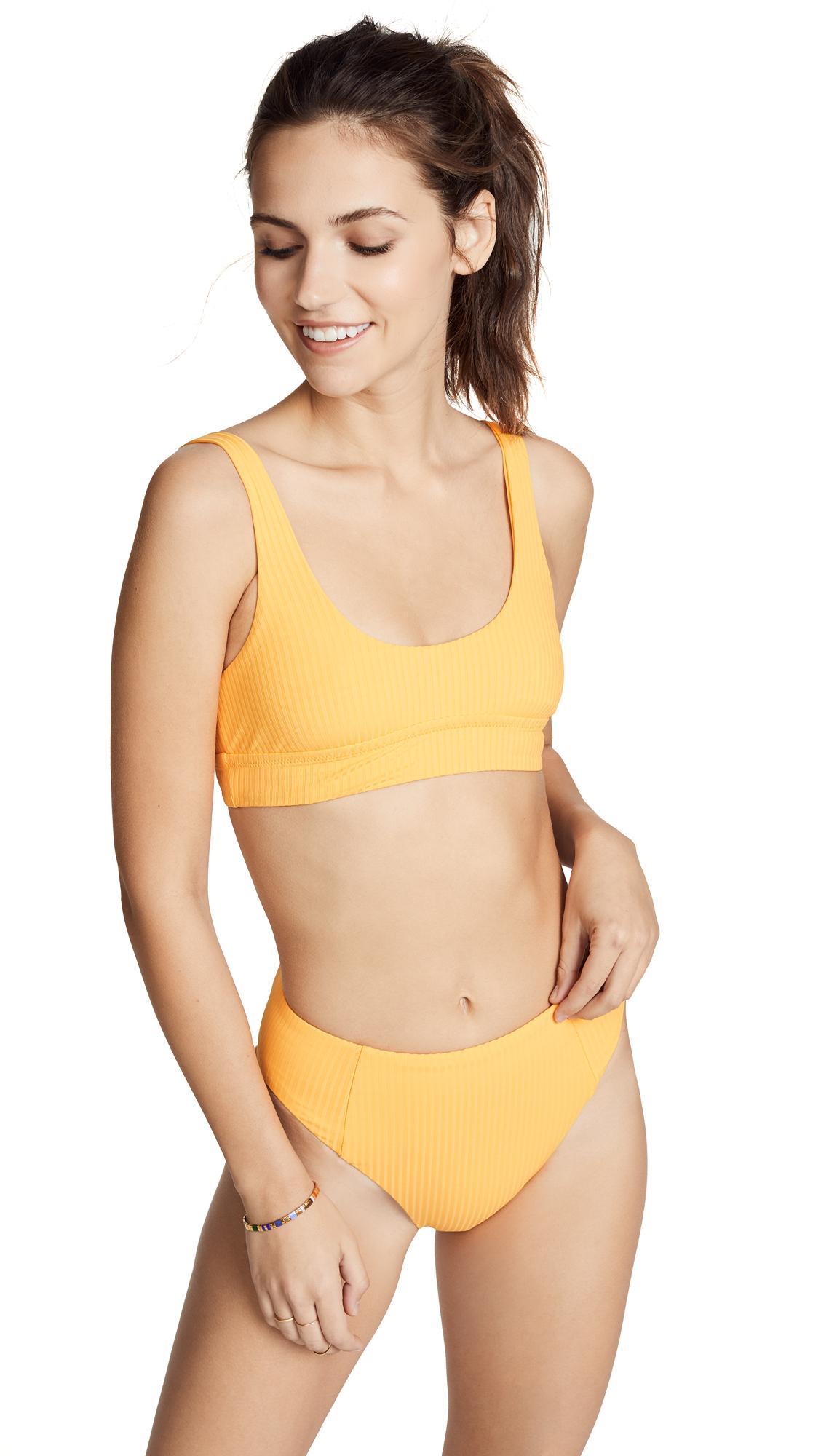 Vitamin A Sienna Bikini Top In Yellow
